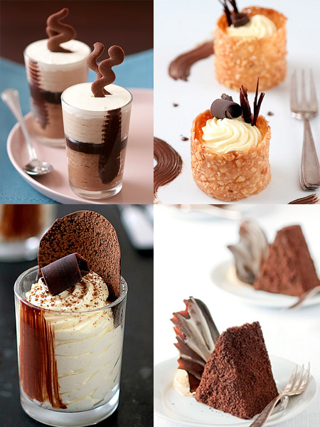 Milk Chocolate & Chestnut Mousse Verrines , Nougatine Cups with ...
