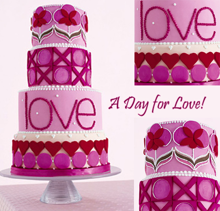 cake. If you are having a Valentine's Day themed wedding or simply want to