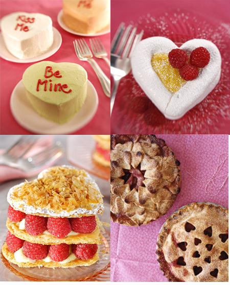 sweets. Recipes Mini Heart-Shaped Cakes,Heart-Shaped Meringues Filled with