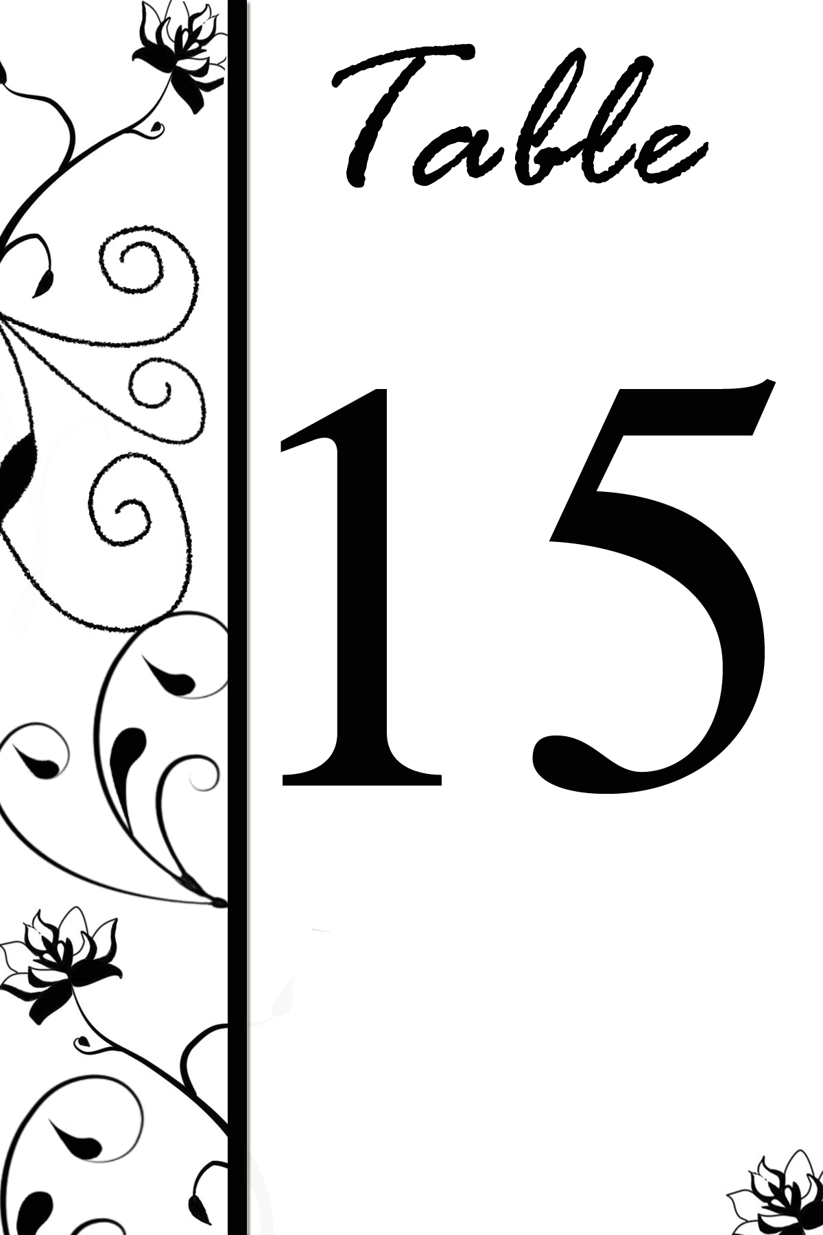 free table number templates