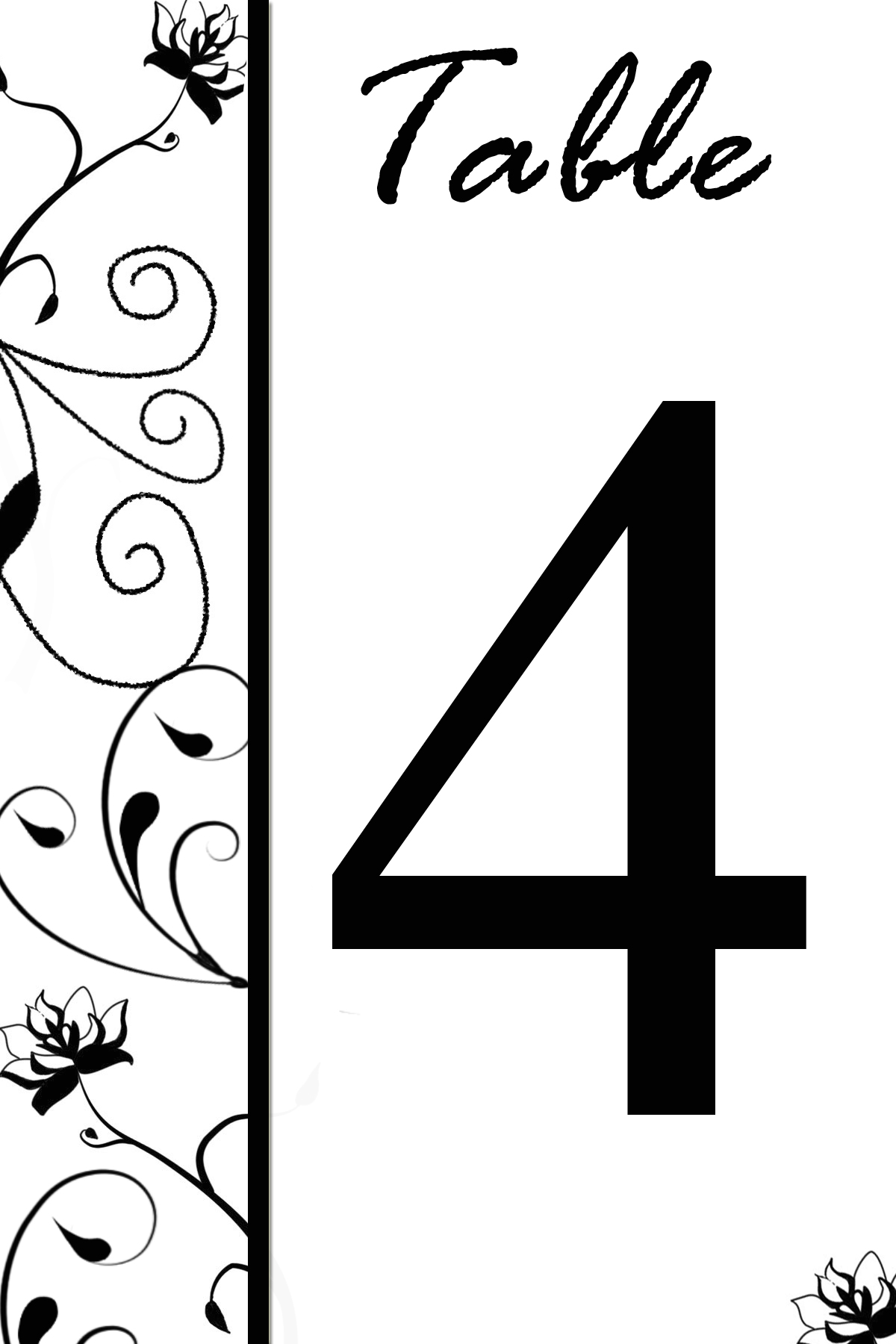 Flower1 Flower2 3 4 ...  Numbers Templates Free