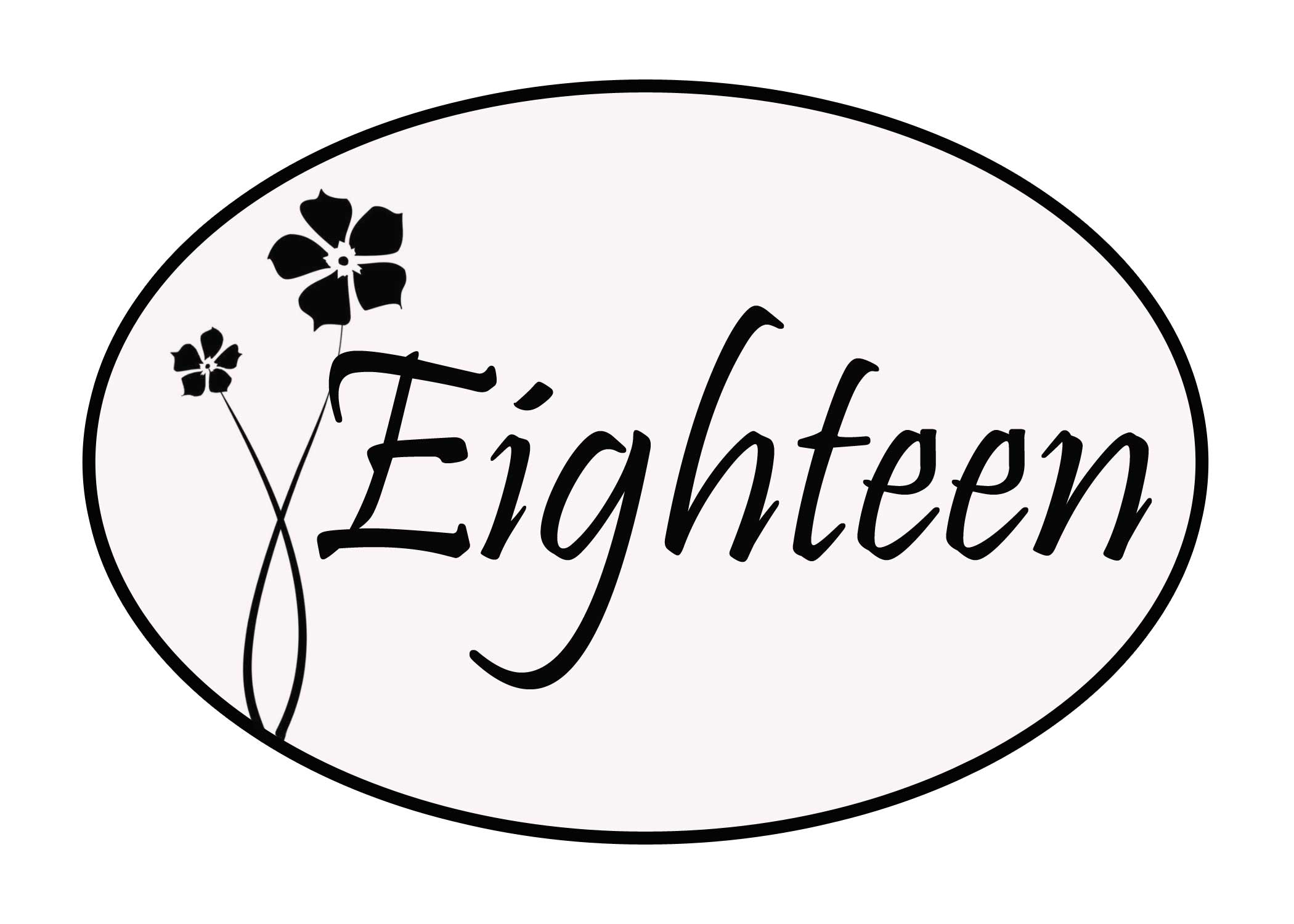 number eighteen coloring pages