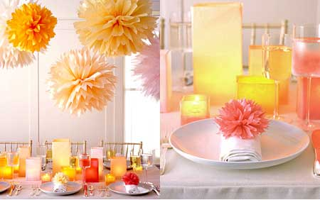 Use the pompoms as decorations to add interest to the ceiling or to adorn