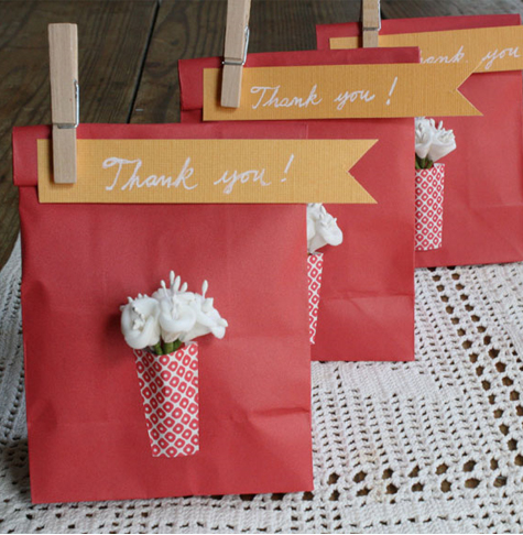 Wedding Gift Bags At Michaels : diy Projects} Paper Vase Favor Bags