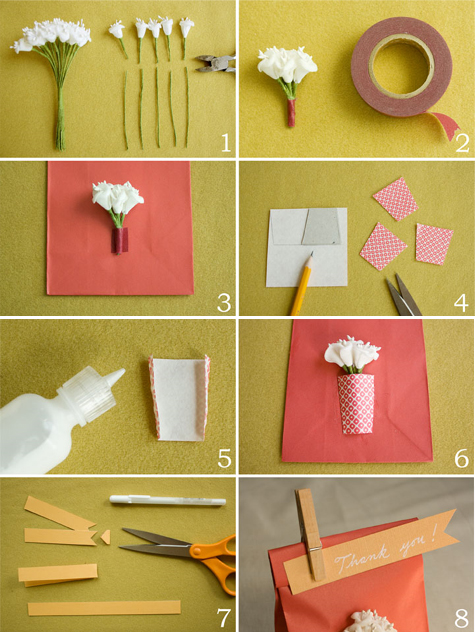 Paper Vase Favor Bags