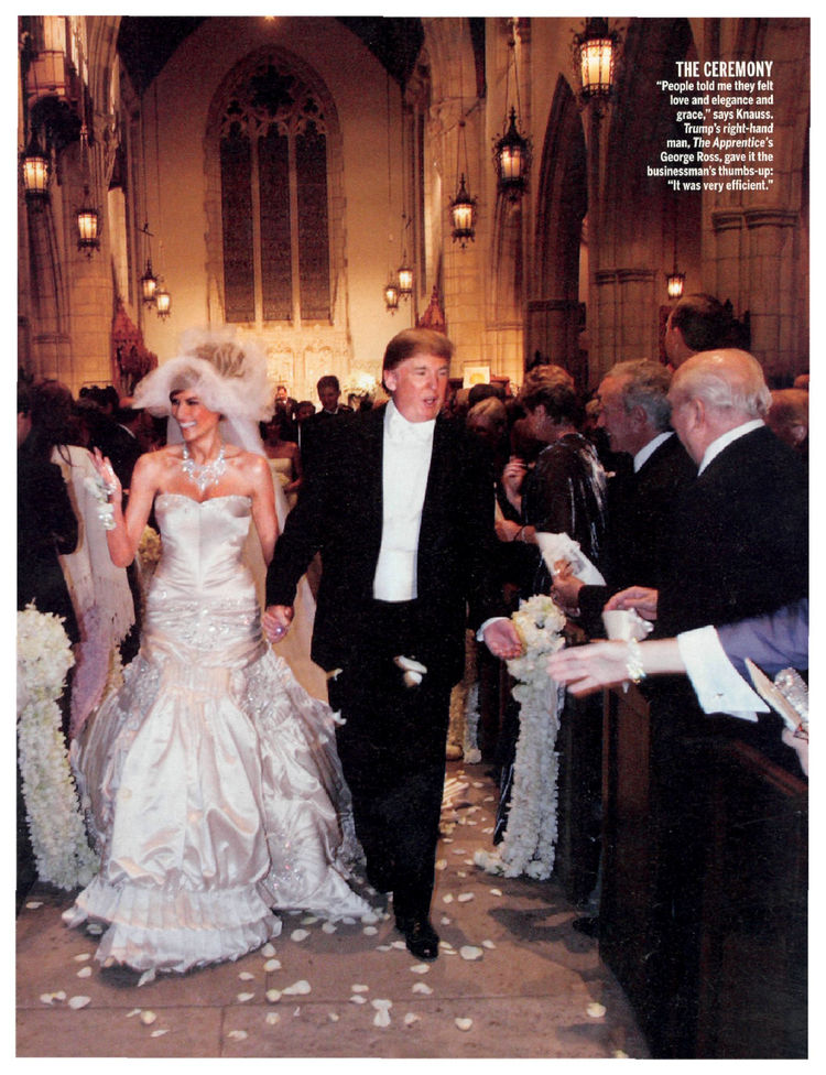 Donald dress picture trump wedding