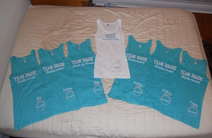 Team Bride Tank Tops as Seen on Pinterest