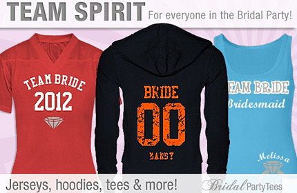 Get Your Bridal Party in the Team Spirit!