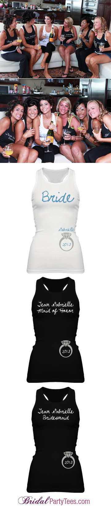 Bachelorette Party Ring and Date Tanks
