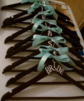 Painted Wedding Hangers