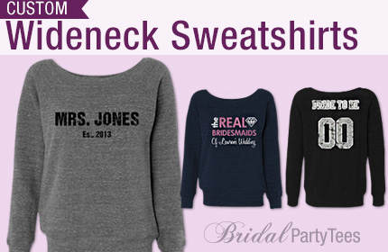 Bridal Wideneck Sweatshirts