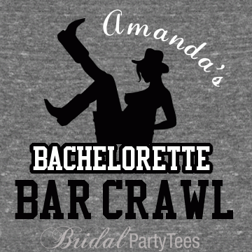 Western bachelorette party shirts