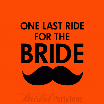Mustache bachelorette party shirts