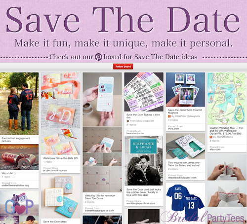Save The Date Ideas from Bridal Party Tees