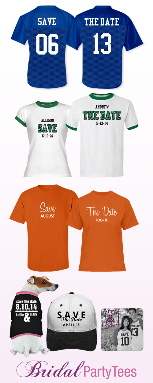 Custom Save The Date Jersey and Shirts