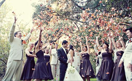 Wedding leaves