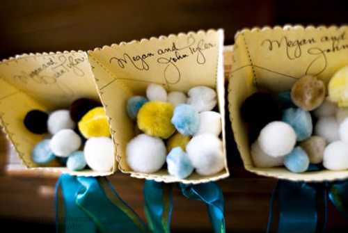 pom-poms-wedding-toss