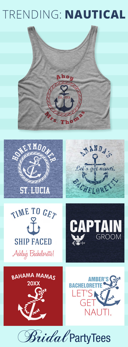 Nautical Theme Bridal Party Tees