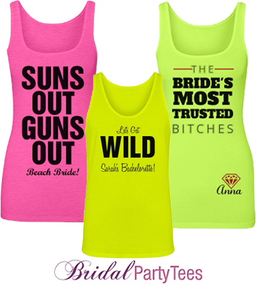 Custom Neon Bridal Tank Tops