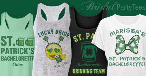 fcb9ef10e ... St. Patrick's Day bachelorette party shirts. Bridal Party Tees ...
