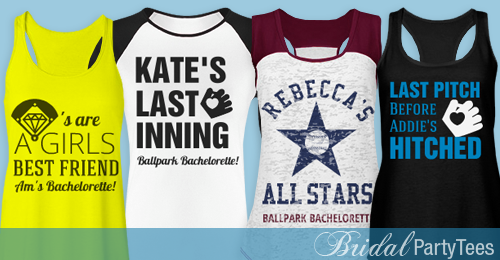Baseball Bachelorette Party Shirts If