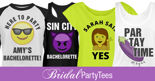New Wedding Emojis For Your Bridal Party Shirts Bridal Party Tees