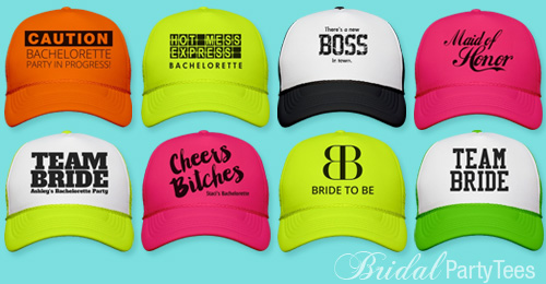 163595c7870 Bride and Bachelorette Party Trucker Hats - Bridal Party Tees