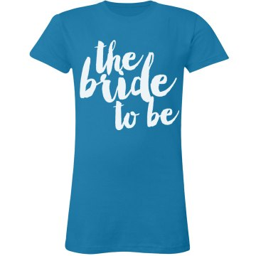 Bride-to-Be w/ Flowers Junior Fit Bella Sheer Longer Length Rib Tee