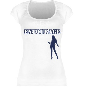 The Bride's Entourage Junior Fit Bella Sheer Longer Length Scoopneck Tee