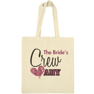 The Bride's Crew Bag Liberty Bags Canvas Bargain Tote Bag