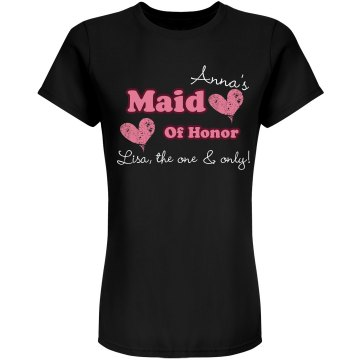 Maid Of Honor Tee Junior Fit Bella Sheer Longer Length Rib Tee