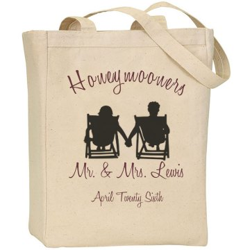 Honeymooner Bad Liberty Bags Canvas Tote