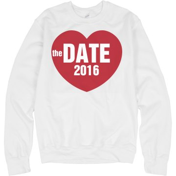 Save The Date Sweatshirt Unisex Hanes Crew Neck Sweatshirt