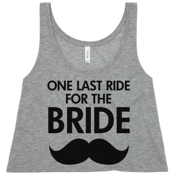 Last Ride For The Bride Misses American Apparel Neon Oversized Crop Tank