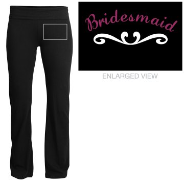Bridesmaid Yoga Pants Junior Fit Soffe Yoga Pants