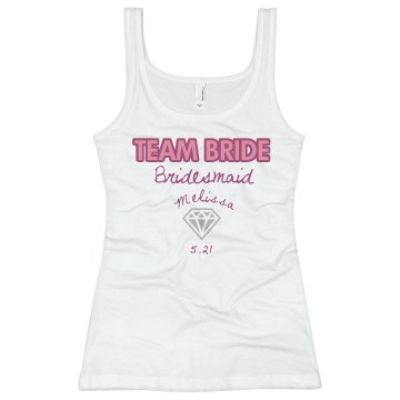 Team Bride Junior Fit Bella Longer Length 1x1 Rib Tank Top
