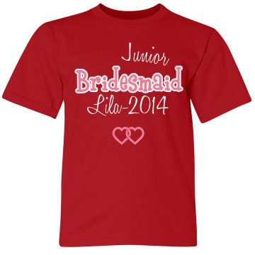 Junior Bridesmaid Tank Youth Bella Girl 1x1 Rib Tank Top