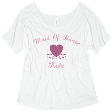 Maid of honor black Junior Fit Bella 1x1 Rib V-Neck Tee