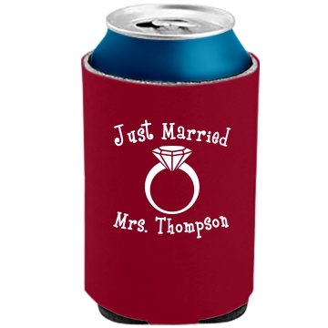 Just Married Can Cooler The Official KOOZIE Can Kooler