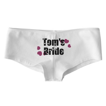 Tom's Bride Thong Bella Contrast Satin Trim Thong