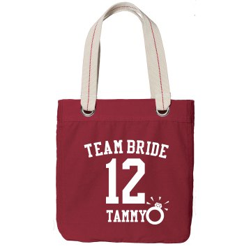 Team Bride Bag Port Authority Color Canvas Tote