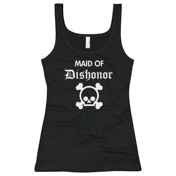 Maid Of Dishonor Junior Fit Bella Sheer Longer Length Rib Tank Top