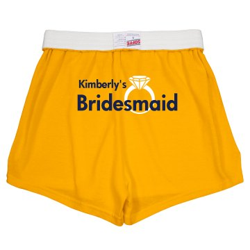 Bride Shorts With Ring Junior Fit Soffe Cheer Shorts