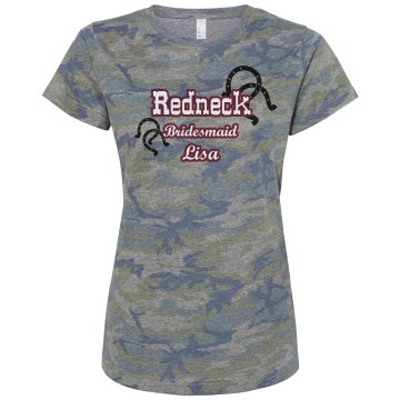 Redneck Bridesmaid Tee Misses Relaxed Fit Code V Jersey Pink Camo Tee
