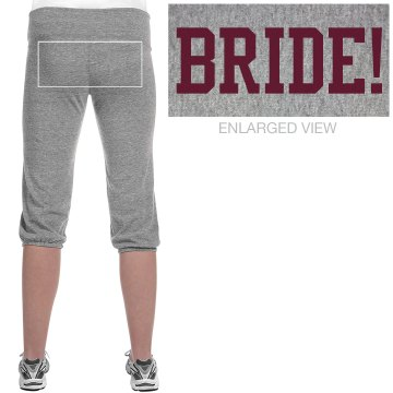 Bride Capris Junior Fit Soffe Fleece Capri