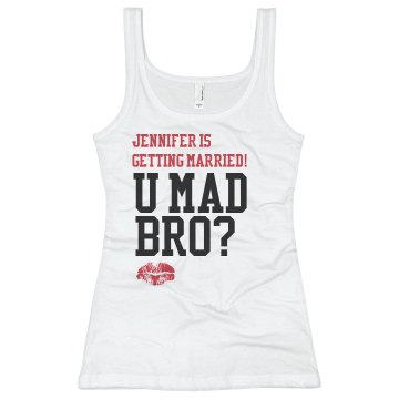 U Mad Bro? Lipstick Junior Fit Basic Bella 2x1 Rib Tank Top