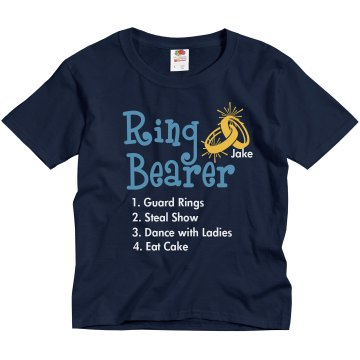 Ring Bearer List Tee Youth Gildan Ultra Cotton Crew Neck Tee