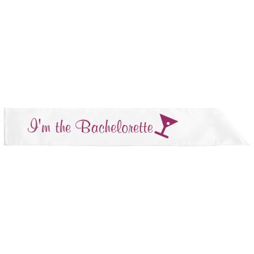 I&#x27;m The Bachelorette Sash Adult Satin Party Sash