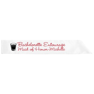 Bachlorette Entourage  Adult Satin Party Sash