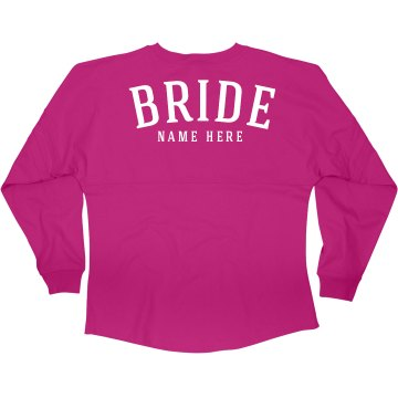 Custom Bride's Name Jersey